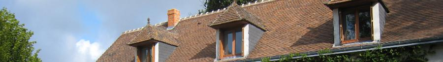 tiled roof with dormer windows